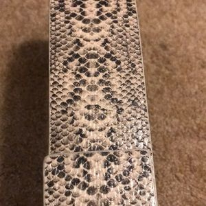 New York & Company Accessories - Embossed python printed belt